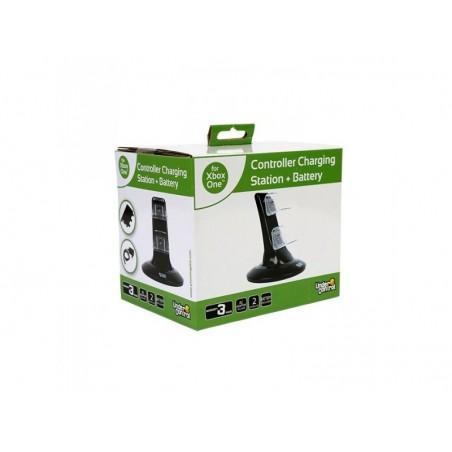 UnderControl Xbox One AC-adapter, batterij en docking station voor twee controllers