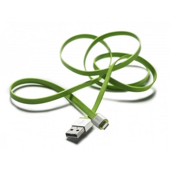 Boompods Platte Kabel Flatline (1 meter) - Micro USB voor Android - Groen