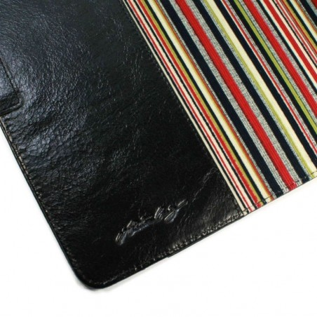 Alston Craig Vintage Genuine Leren Slim-stand Case Cover voor Apple iPad Air 1 / 2 - Zwart