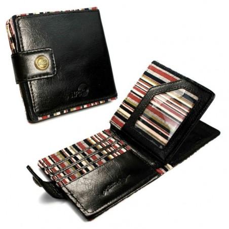 Alston Craig echt vintage lederen RFID blokkerende/ NFC ID Mens Tec portemonnee- Zwart