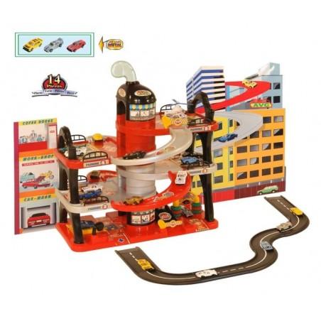 International Garage - Garage - Met Circuit, 3 Auto's en een Helikopter