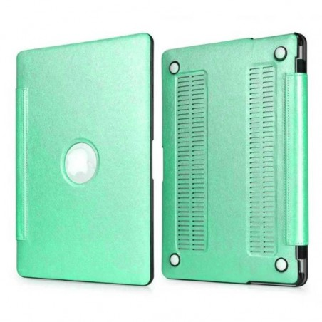 Tuff-Luv Slim Skin Shell Case - Voor de Apple Macbook Pro Retina 15.4 Inch - Glacier Aqua