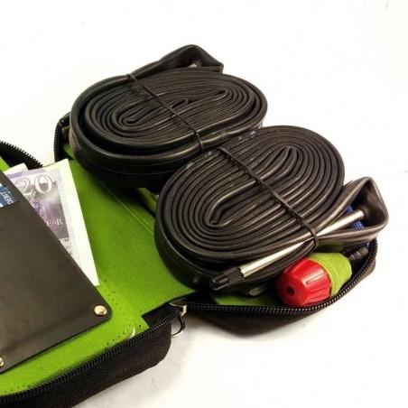 Tuff-Luv - Velo Etui 31 - Lederen fiets tas - Compatibel met alle 4.3 - 5.5 Inch telefoons - Bruin
