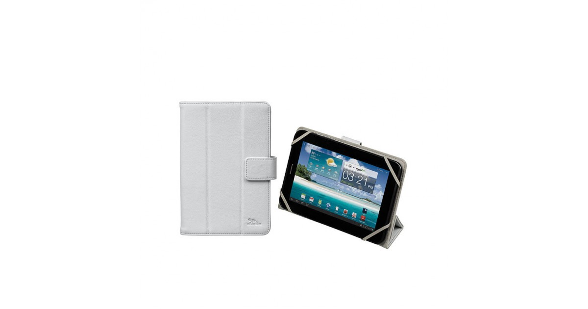 RivaCase Universele Tablet case 7 Inch (Samsung Galaxy tab, Acer, Asus, Lenovo) - Wit