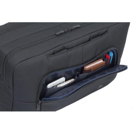RivaCase - Laptop Schoudertas - 17 Inch - Extra vak voor 10.1 Inch tablet - Zwart