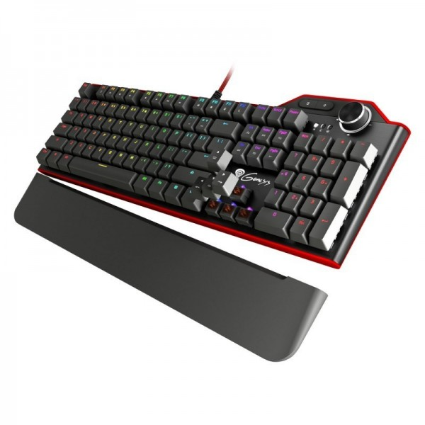 Genesis RX85 mechanisch gaming toetsenbord, met bruine kailh-toetsen en RGB verlichting
