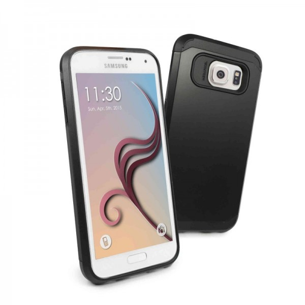 E-Volve - harde Armour hoes voor Samsung Galaxy S6 - Zwart