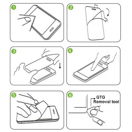 Tuff-Luv - Full Screen Protector - Gebogen 3D Gehard Glas - Voor de Samsung Galaxy S8 Plus