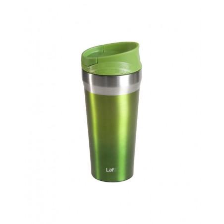 Lafe - Thermosfles Zuignap onderkant - RVS - 400 ml - Groen