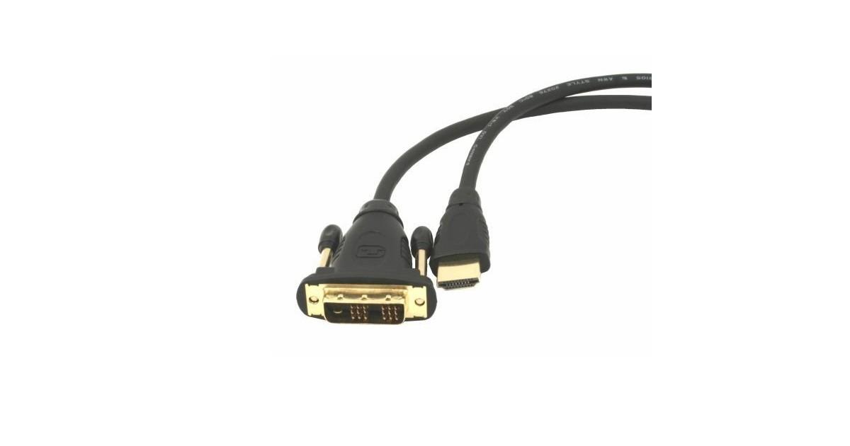 Natec Extreme Media - HDMI-DVI Kabel - Goude Connector - 3m - Zwart