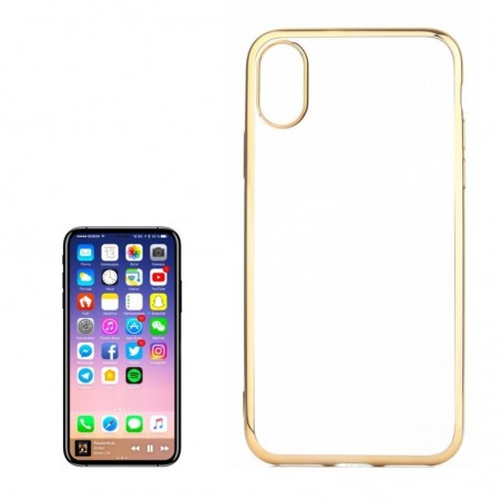 Tuff-luv - Beschermende TPU siliconen  case voor de Apple iPhone X - goud