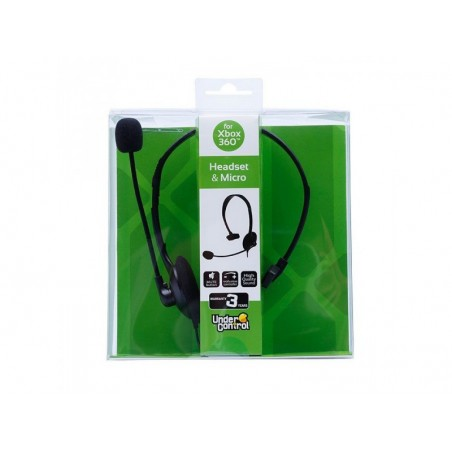 Under Control Wired headset voor Xbox 360 zwart