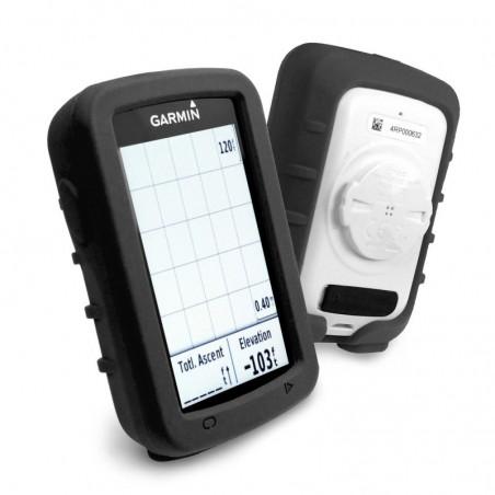 Tuff-Luv - Siliconen Gel Skin Case met Screenprotector - Voor de Garmin Edge 820 - Zwart