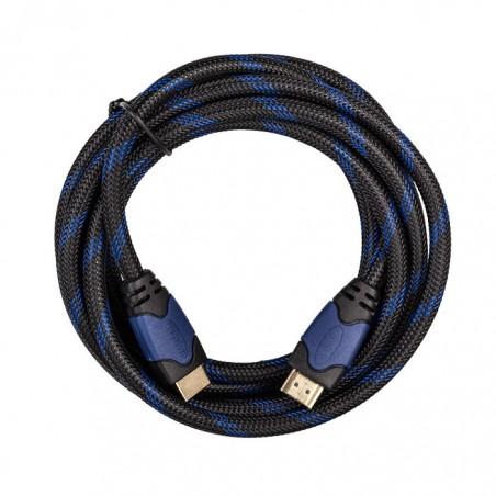 HDMI-kabel 4K Ultra HD - PS4/PS3 - 3 meter - blauw/zwart