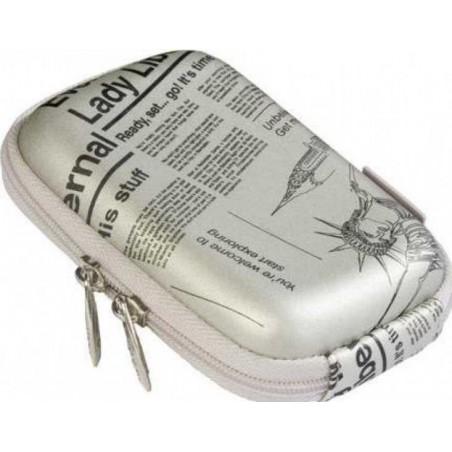 Rivacase 7103 (PU) Digital Case silver (newspaper)