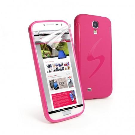 Tuff-Luv Gel 'S' Smartphone case Samsung Galaxy S4 roze