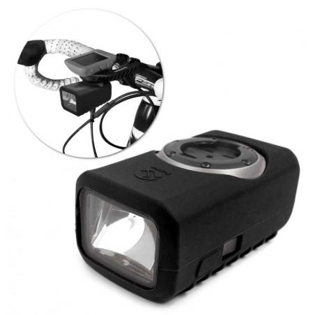 Tuff-Luv Silicone Gel bescherm hoes voor Garmin Varia Light- Zwart