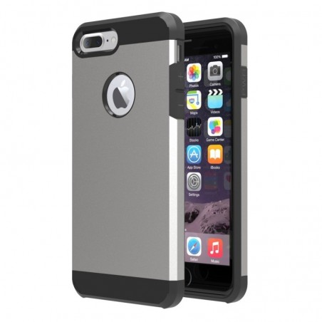 Tuff Luv Twin Armour TPU case voor iphone 7 Plus - Grijs