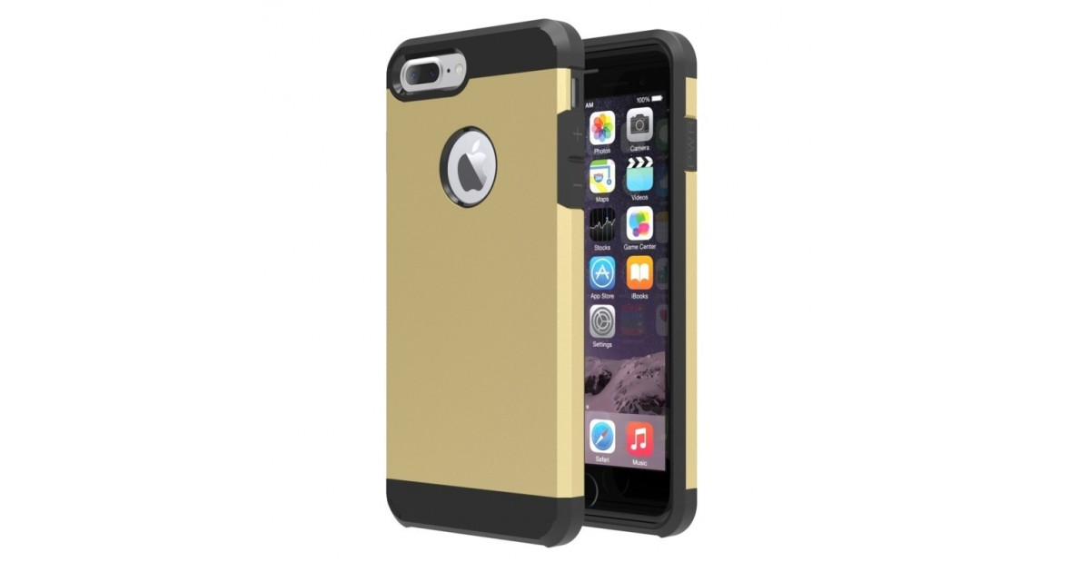Tuff Luv Twin Armour TPU case voor iphone 7 Plus - Goud