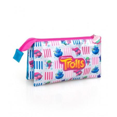 Trolls - Etui - 3 vakken - 22 cm