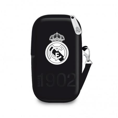 Real Madrid - Tasje voor mobiel - 14 cm hoog -  Zwart