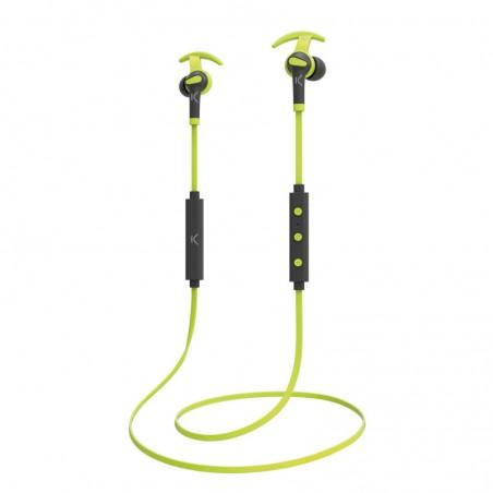 Ksix - Go  en Play Sport 3 Draadloze Koptelefoon met Microfoon - grijs groen