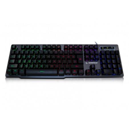 Rampage Gaming Toetsenbord KB-R78 - Rainbow achtergrond verlichting - Metalen behuizing - US Layout