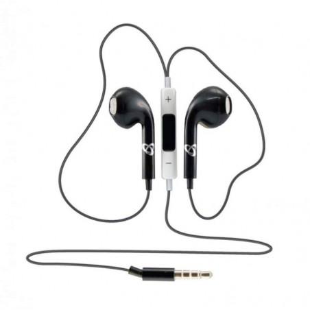 Sbox in-ear koptelefoon bedraad apple look IEP-204 Zwart 3.5 jack
