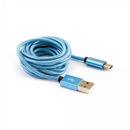 Sbox Usb oplader android USB -TYPEC-15BL Blueberry, Blue