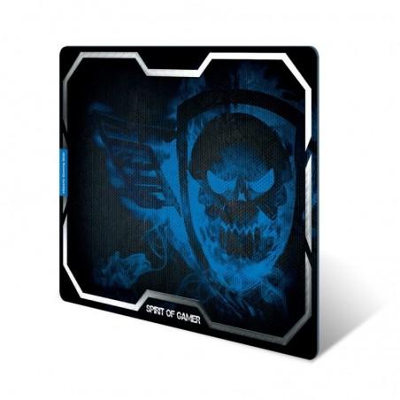 Spirit of Gamer - Muismat Smokey Skull - XL - Blauw