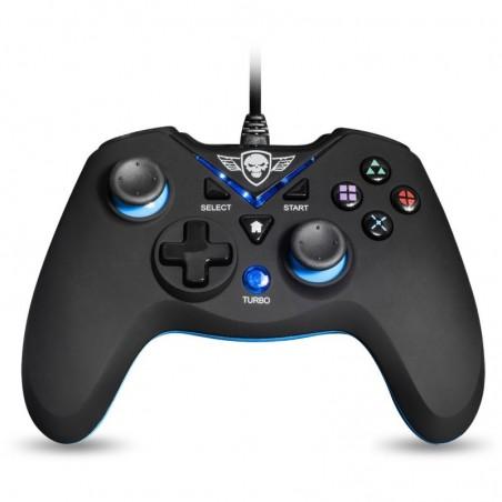 Spirit of Gamer - Wired Controller XGP - PC - PS3 - Zwart met Blauw