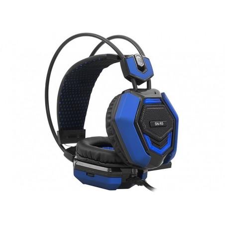 Rampage Sn-R5 X-Core Gaming headset zwart met blauw