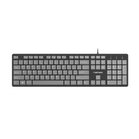 Natec Discus toetsenbord - slank ontwerp- zwart en grijs