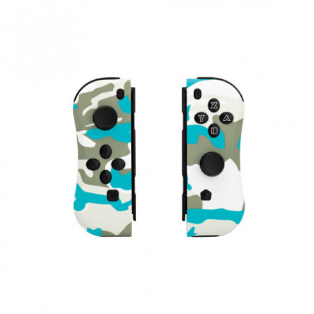 Under Control - Nintendo Switch ii-con Controllers - Snow White Camo met polsbandjes