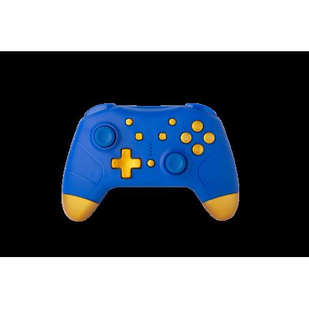 Nintendo Switch - Draadloze Bluetooth Controller - Blauw met Goud