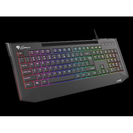 Genesis Lith 400 RGB - Silent Gaming keyboard - Zwart