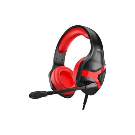 Rampage RM-X1 PYTHON Gaming Headset met 3.5mm jack aansluiting - Zwart/Rood