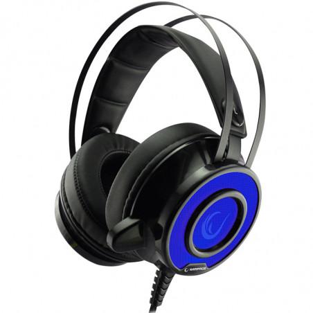 Rampage Avazz Gaming Headset SN-RX2 - 3.5mm stereo - Zwart met blauw ledverlichting