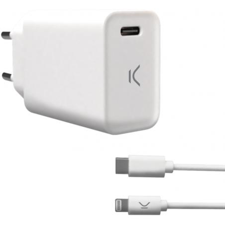 Ksix muurlader voor iphone met kabel  usb type C naar lightning