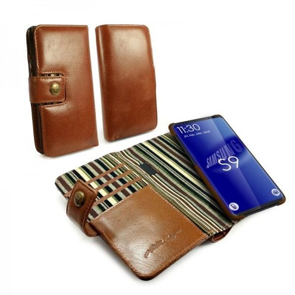 Leren Portemonnee.Alston Craig Leren Portemonnee Hoesje Samsung Galaxy S9 Plus
