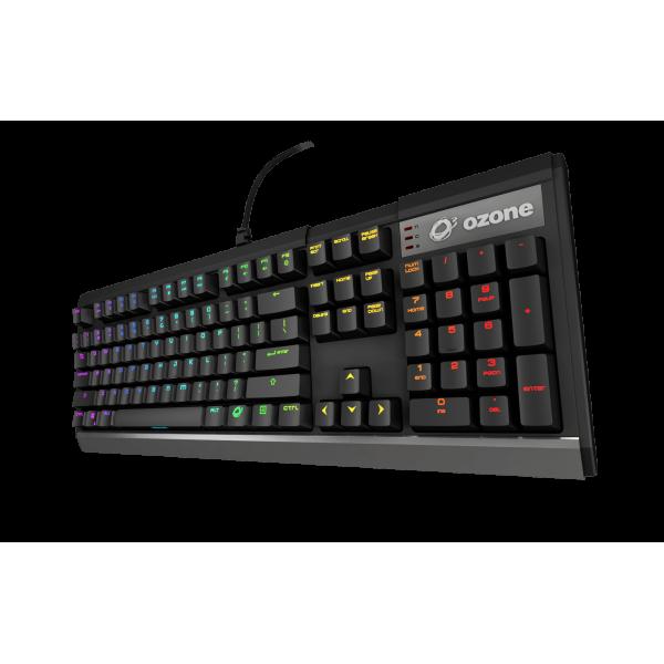Ozone Strike X30 gaming toetsenbord Kailh Rode switches - US layout