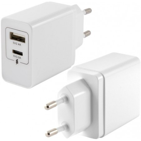 Ksix -  USB Stopcontact - Splitter - Wit
