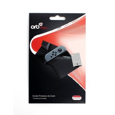 ORB - Screen protector met schoonmaakdoekje - Voor de Nintendo Switch