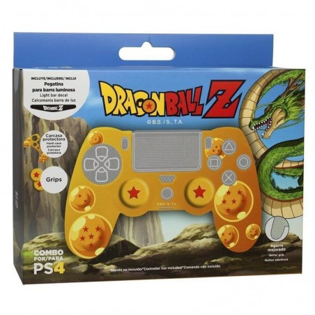 Dragon Ball Z Combo Pack (Case + Thumb Grip + Led Decal) voor PS4