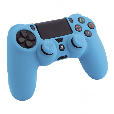 Silicone Skin + Thumb Grips (blauw) voor PS4